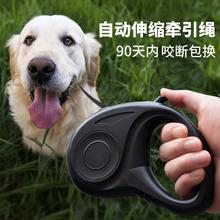 狗狗牵bi绳自动伸缩li型犬泰迪博美宠物用品遛狗绳子项圈