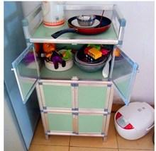 简易(小)bi柜厨房家用la功能不锈钢铝合金柜子经济型橱柜省空间