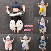 婴儿连bi衣夏季恐龙ul月12男宝宝纯棉衣服春秋新生婴儿儿衣服