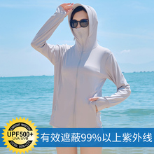 防晒衣bi2020夏ni冰丝长袖防紫外线薄式百搭透气防晒服短外套