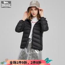 龙狮戴bi专柜正品轻ng连帽保暖外套简约238421026