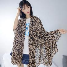 [bifuyi]ins时尚欧美豹纹围巾女