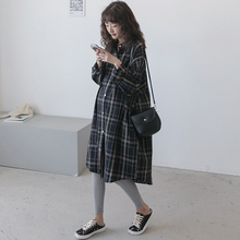 [bifuyi]孕妇春装连衣裙长袖上衣怀