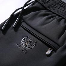 男裤子bi筒休闲裤男yi弹力运动裤男宽松卫裤秋冬厚式商务长裤