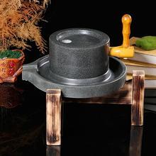 青石大bi农村豆浆磨da院石磨盘家用(小)石磨电动传统磨大米手工