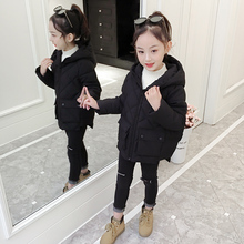 女童短bi棉衣202da女孩洋气加厚外套中大童棉服宝宝女冬装棉袄