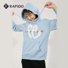 RAPIDO FUBU联名系列 bi13霹道 es身抓绒刺绣运动休闲卫衣