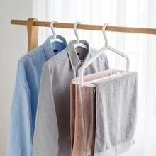 日本进口衣架可伸缩旋转bi8巾架浴巾to单被单晾晒架防风衣架