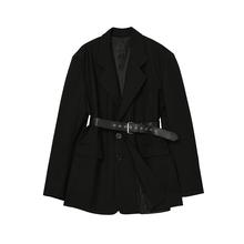 Desbigner tos 黑色法式(小)外套2020新式女复古英伦风收腰西服