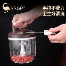 德国手bi绞肉机家用le器手摇多功能绞肉器碎肉手拉式搅碎机
