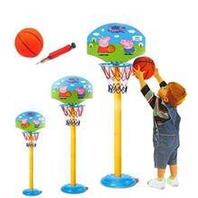 宝宝(小)bi友(小)孩子幼le架投篮框(小)童移动可调亲子室内训练蓝球