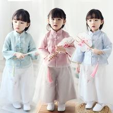 宝宝汉bi春装中国风ep装复古中式民国风母女亲子装女宝宝唐装