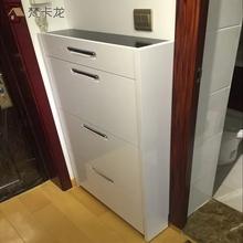 超薄简易多层防尘鞋柜白bi8带衣架简es7cm进门翻斗玄关门厅柜