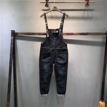 欧洲站bi020秋季eb款黑色宽松弹力个性(小)脚吊带女裤