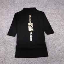 半高领bi恤女五分袖eb底衫女中袖女式棉质上衣秋天薄式(小)衫潮