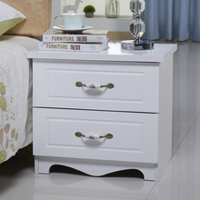 简欧式bi色象牙白烤tu室储物柜二斗柜多功能储物柜