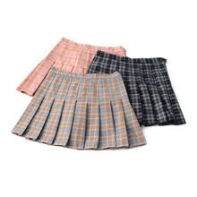 2021春夏学院风格子高bi9修身半身tu裙 裤裙 裙子短裙女