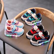 童鞋男bi鞋子202tu新式(小)童亮灯鞋3女童1-5岁宝宝鞋2透气网鞋4