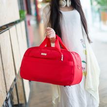 韩款大bi量单肩斜跨ly手提袋可包行李包女旅游包男