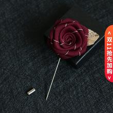 外套别针手工布艺胸bi6西装玫瑰ly针男女花朵衬衫领针礼盒装