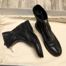 叮当家biuidi靴ms310网红短靴女瘦瘦靴前拉链马丁靴夏季薄式