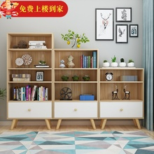 北欧书bi储物柜简约ng童书架置物架简易落地卧室组合学生书柜