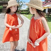 3童装(小)女孩bi3子女童夏ng7儿童韩国夏天薄款洋气吊带裙6岁8