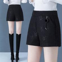 202bi新式春季提ta短裤女春秋打底外穿女士高腰松紧腰中年妈妈