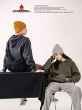 玩药局bi冬复古基础au织毛衣男士带帽情侣针织衫卫衣