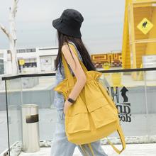 澄心女bi时尚工装风bi口单肩包大包牛津布背包旅行双肩包两用