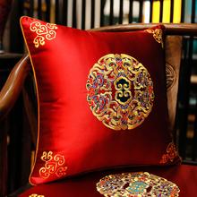 中式红木沙bi2抱枕靠垫bi新古典中国风靠背家用客厅靠枕含芯