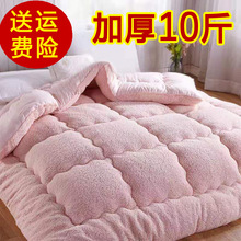 10斤bi厚羊羔绒被bi冬被棉被单的学生宝宝保暖被芯冬季宿舍