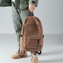布叮堡bi式双肩包男bi约帆布包背包旅行包学生书包男时尚潮流