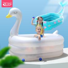 诺澳婴bi童充气游泳bi超大型海洋球池大号成的戏水池加厚家用