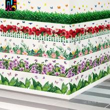 [birbi]墙壁角边条装饰花草栅栏地