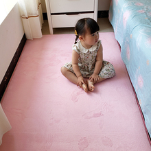 家用短bi(小)地毯卧室bi爱宝宝爬行垫床边床下垫子少女房间地垫