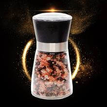 喜马拉bi玫瑰盐海盐fo颗粒送研磨器