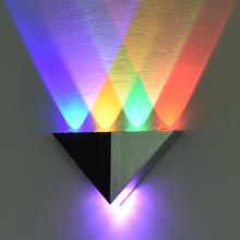 ledbi角形家用酒uiV壁灯客厅卧室床头背景墙走廊过道装饰灯具