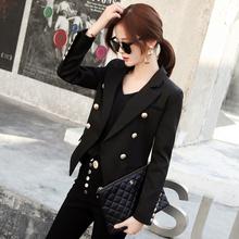 韩款网bj黑色(小)西装gw2021年春装新式设计感休闲chic西服上衣