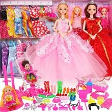 女婚纱bj芭妃婚纱包nq换装热销讲故事盒玩具巴比配件