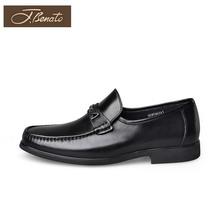 正品宾度男鞋秋季英伦男士商bj10正装皮rn休闲懒的鞋
