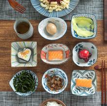 日式调bj碗火锅酱料t0碗醋碗调味碟凉菜碗创意异形碗方碗