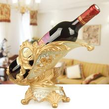 欧式红bl架摆件北欧ng饰品酒架置物架客厅家用现代展示架