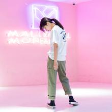 Imcblol原设计ng松直筒学生街头bf风中性工装裤女装休闲裤潮K3