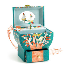 法国DblECO宝宝ck旋转公主女孩首饰盒八音盒玩具木质