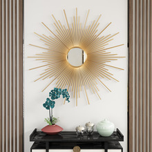 欧式金bl壁饰玄关客ck壁挂墙饰餐厅太阳镜装饰品轻奢墙上挂饰
