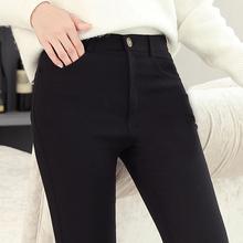 打底裤bl外穿春夏秋ck0新式韩款高腰显瘦黑色薄式九分