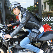 JR骑bl机车摩托车os能战术腰包单肩包男女防水大(小)式