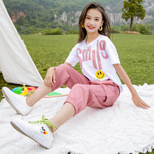 女童套装网红洋气2bl621新款sq儿童中大童夏季运动两件套女孩