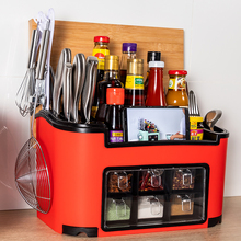 多功能厨bl用品神器置ti合套装家用调味料收纳盒调味罐
